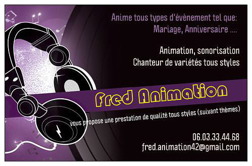 carte visite fred animation